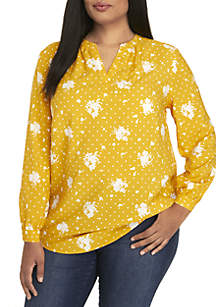 Madison Plus Size Popover Tunic