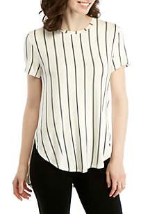 Madison Stripe Asymmetrical T Shirt