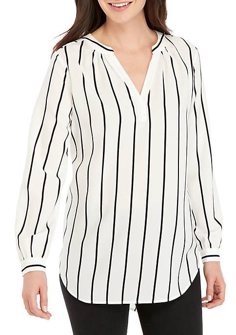 Long Sleeve Stripe Tunic Top