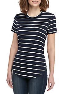 Madison Short Sleeve Stripe T Shirt