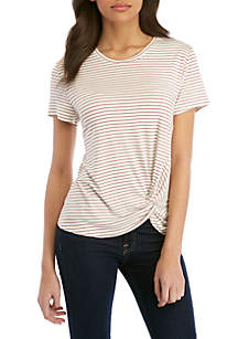 Madison Knot Front Tee