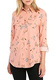 Madison Long Sleeve Floral Shirt