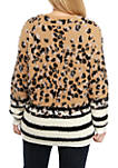 Plus Size Mix Animal Pullover Sweater