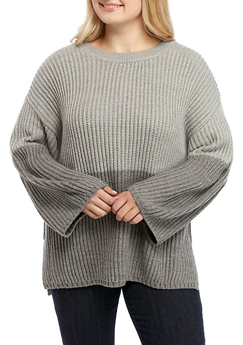 Madison Plus Size Color Block Sweater