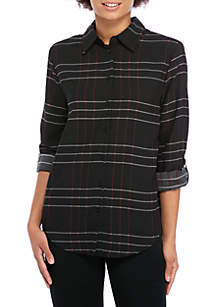 Madison Long Sleeve Plaid Stylist Shirt