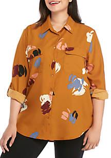 Madison Plus Size Printed Shirt