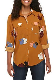 Madison Long Sleeve Floral Stylist Shirt
