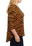 Plus Size 3/4 Sleeve Basic T-Shirt