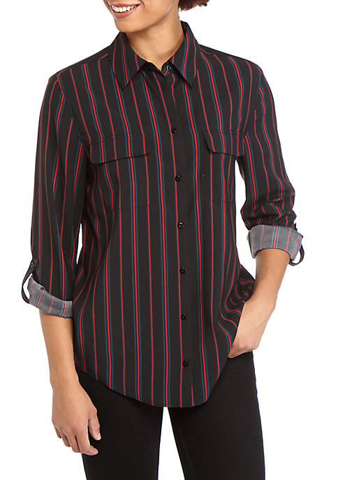 Madison Womens Multi Stripe Stylist Shirt