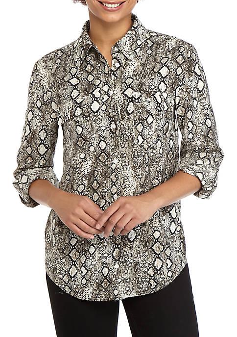 Womens Snakeskin Stylist Shirt