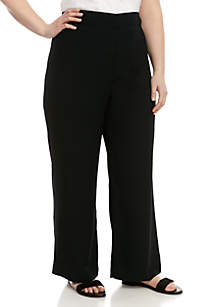 Madison Plus Size High Waist Wide Leg Pants