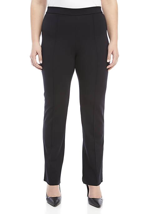 Plus Size Ponte Trousers
