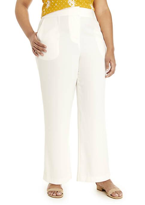 Madison Plus Size Wide Leg Pants