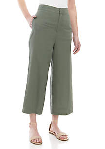 Madison Linen Ankle Pants