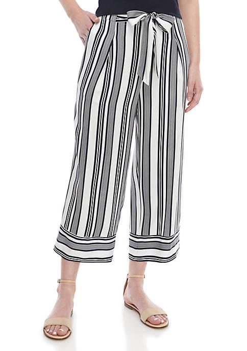 Madison Cropped Paper Bag Wide Leg Pants
