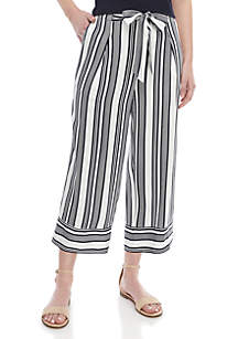 Madison Cropped Paper Bag Wide Leg Pants