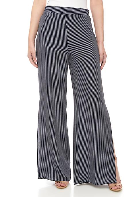 Madison Stripe Side Slit Pants