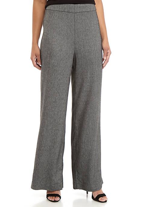 Womens Tweed Wide Leg Pants