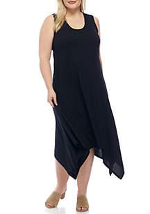 Plus Size Sharkbite Rib Knit Dress
