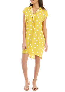Madison Cap Sleeve Polka Dot Shirt Dress