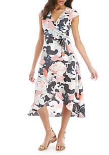 Madison Floral Wrap Dress