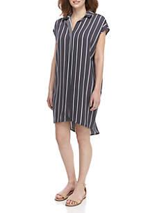 Madison Striped Shirt Dress