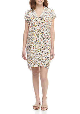 9a0f82d7f7f Madison Animal Print Shirt Dress ...