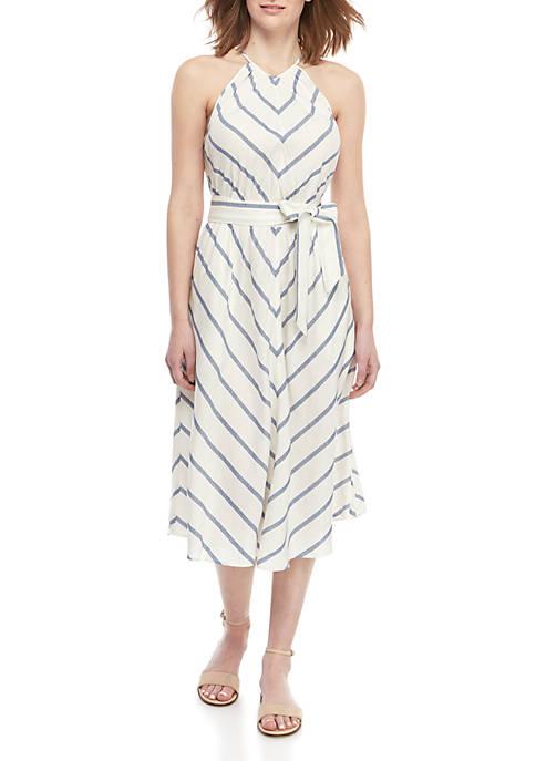 Chevron Linen Dress