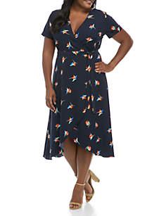 Madison Plus Size Floral Wrap Dress