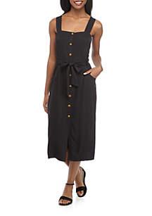 Madison Sleeveless Button Front Dress