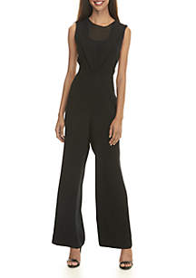 Sleeveless Ruffle Front Jumpsuit