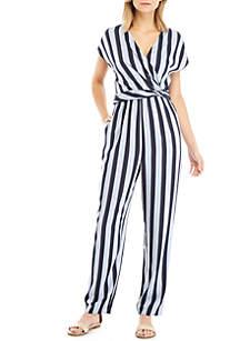 f4ce5bb4e6c5 ... Madison Short Sleeve Wrap Stripe Jumpsuit