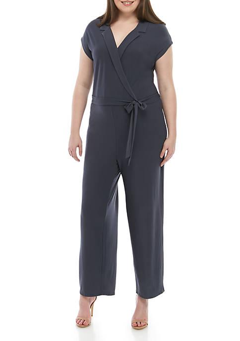 Plus Size Knit Jumpsuit