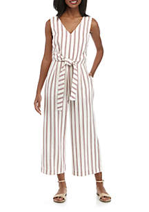 Madison Sleeveless Stripe Jumpsuit