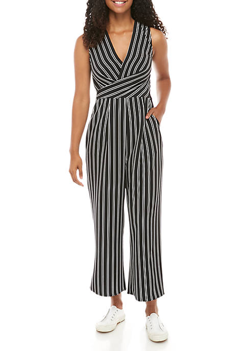 Sleeveless Stripe Jumpsuit
