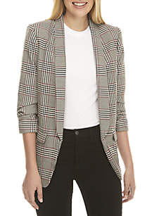 Exploded Plaid Blazer