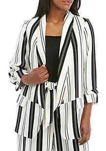 Madison Plus Size Stripe Blazer