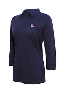 Ole Miss 3/4 Sleeve Jersey Polo