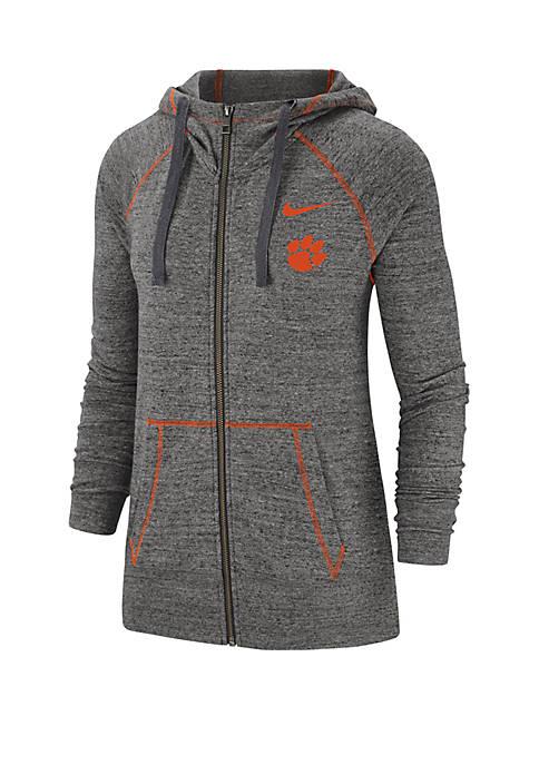 Nike® NCAA Clemson Tigers Gym Vintage Zip Up
