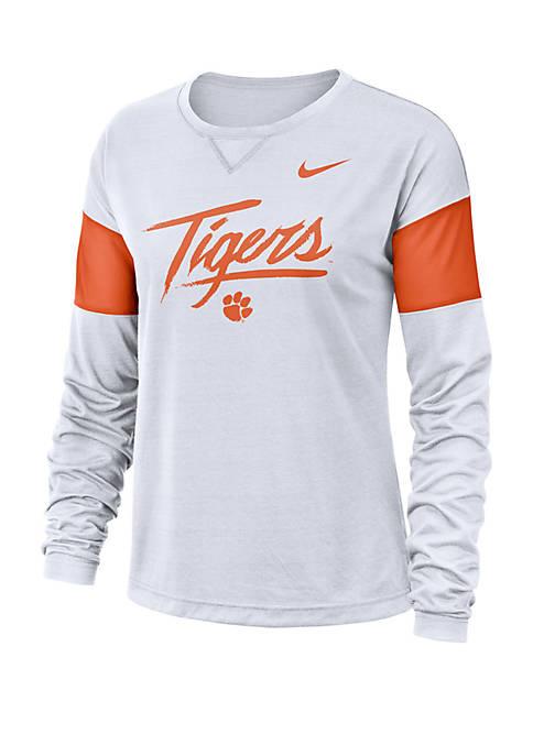 Nike® College Breathe Clemson Tigers Long Sleeve Top