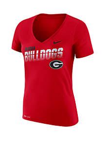 Nike® Georgia Bulldogs Dry Sideline Short Sleeve T Shirt