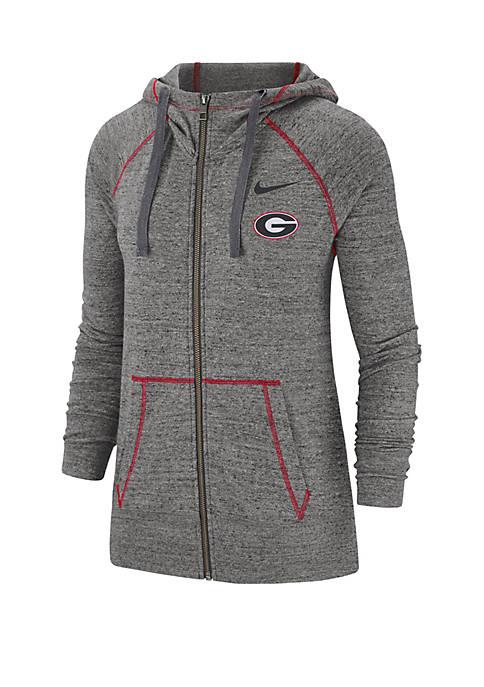 NCAA Georgia Bulldogs Full Zip College Vintage Hoodie