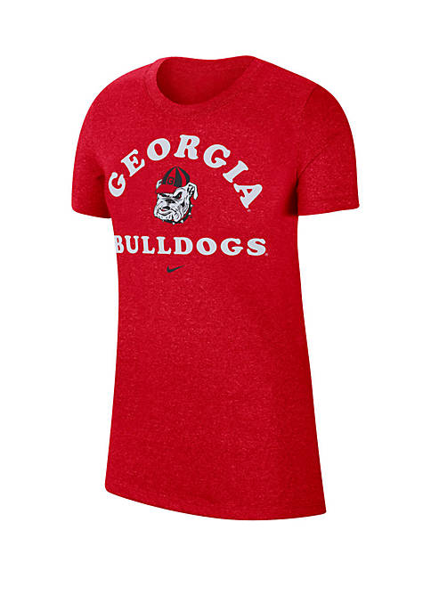 Georgia Bulldogs Marled Crew Neck T Shirt