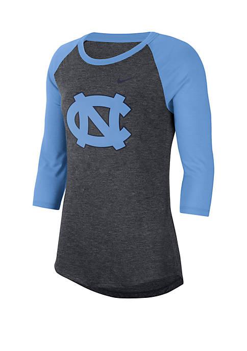 Nike® North Carolina Tar Heels 3/4 Raglan Sleeve