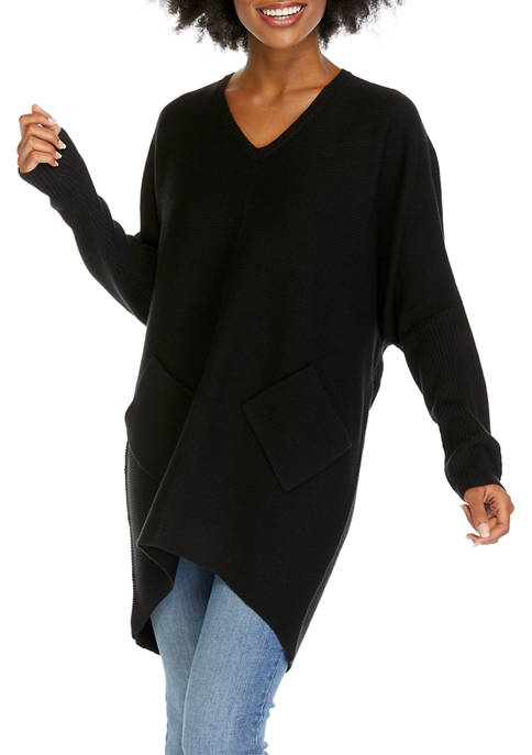 New Directions® Womens Long Sleeve Tunic Sweater