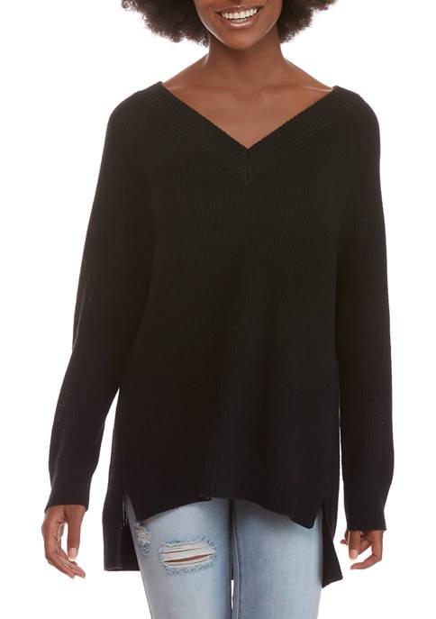 Womens Long Sleeve V-Neck Sweater