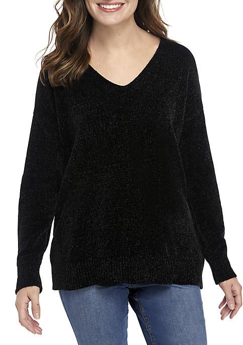 Long Sleeve Double V Sweater