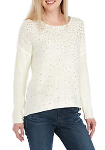 New Directions® Jeweled Pullover Sweater