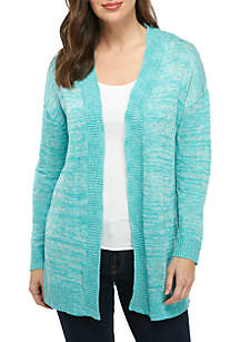 New Directions® Long Sleeve Lace Up Cardigan