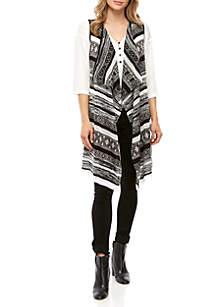 New Directions® Tribal Jacquard Vest